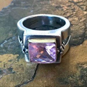Michael Dawkins Pink Quartz Sterling 14k Ring